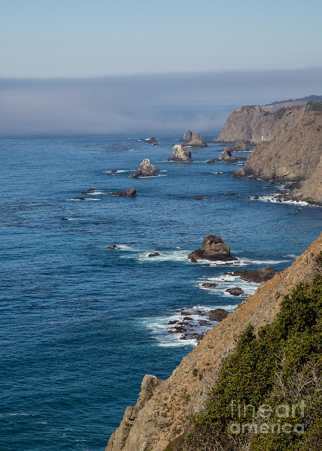 Point Arena Photograph - Coast Near Pt. Arena - 484 by Stephen Parker