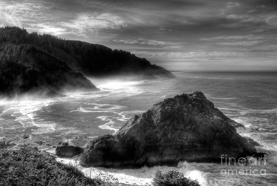 Oregon Photograph - Coast Of Dreams 7 Bw by Mel Steinhauer