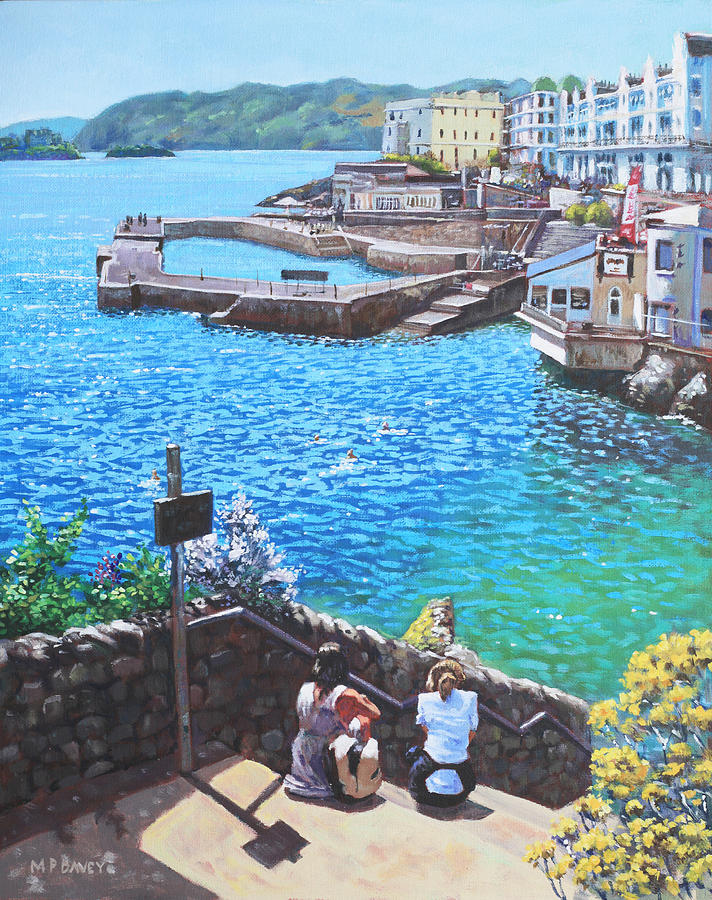 Plymouth Painting - Coast Of Plymouth City Uk by Martin Davey