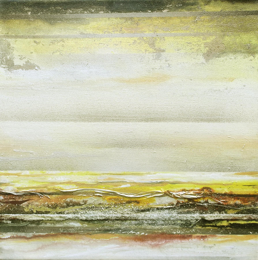 Mixed Media Mixed Media - Coast Rhythms And Textures Yellow And Sepia 1  by Mike   Bell