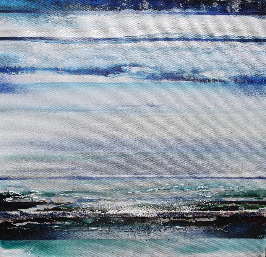 Blue Mixed Media - Coast Rhythms And Texturesblueand Silver 1 by Mike   Bell