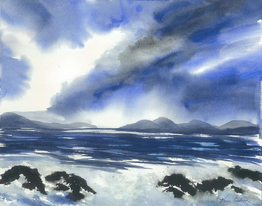 Coast To Coast Painting by Karen  Condron