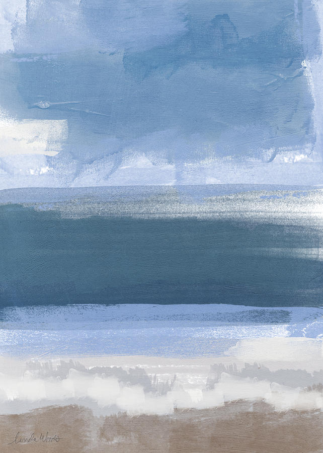 Coastal Abstract Landscape Painting Painting By Linda Woods