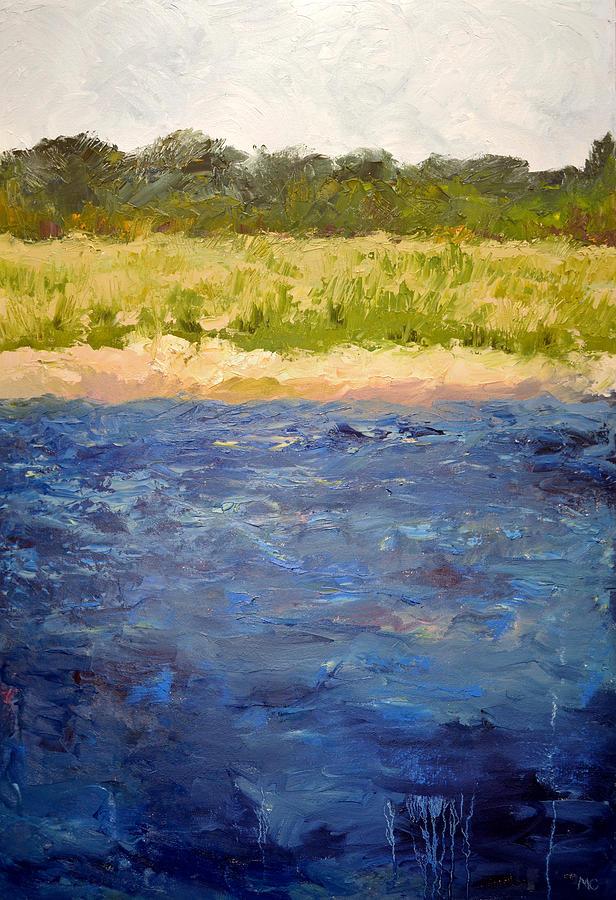 Lake Painting - Coastal Dunes by Michelle Calkins