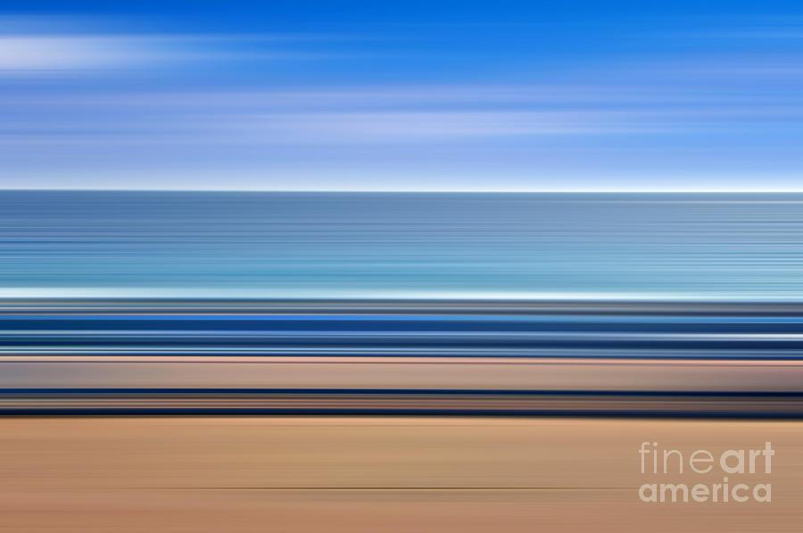 Seascape Photograph - Coastal Horizon 1 by Delphimages Photo Creations