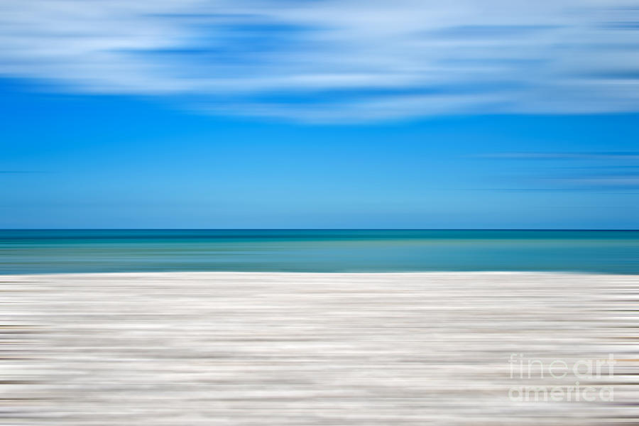 Abstract Photograph - Coastal Horizon 10 by Delphimages Photo Creations