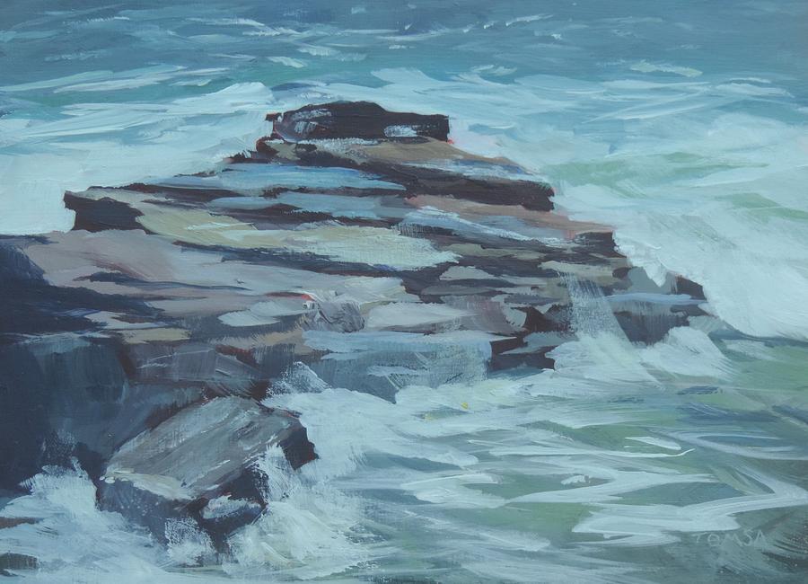 Coastal Inspiration Painting - Coastal Inspiration - Art By Bill Tomsa by Bill Tomsa