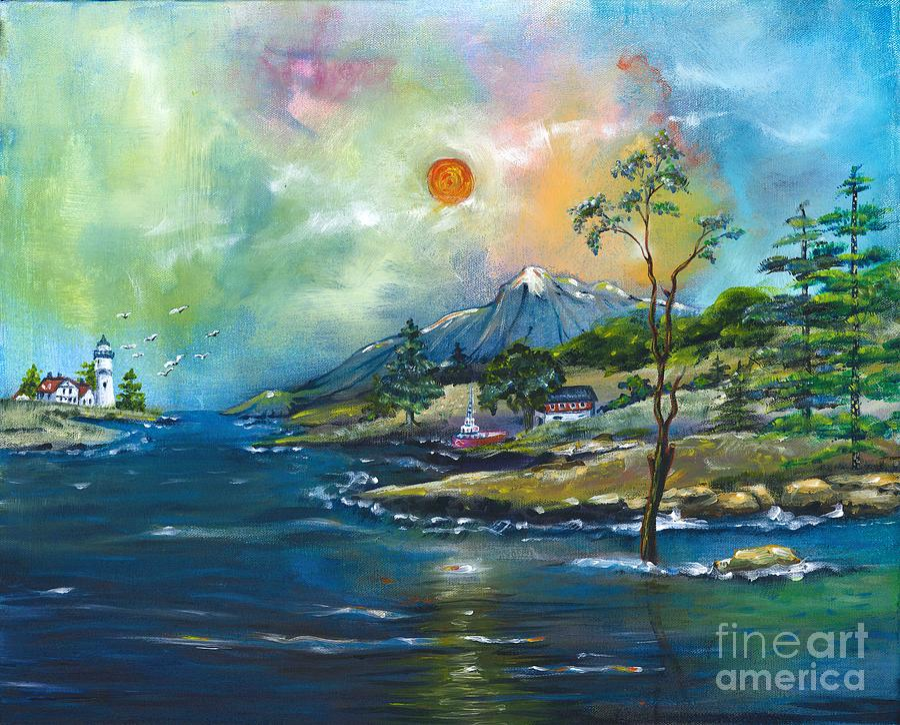 Coastal Landscape - Sunrise - Sunset Painting