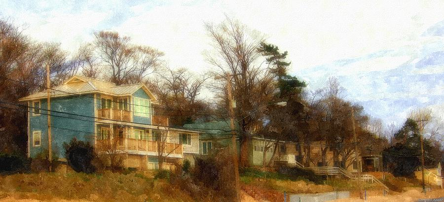 Coastal Living On The Dunes Of The Big Lake Painting by Rosemarie E Seppala