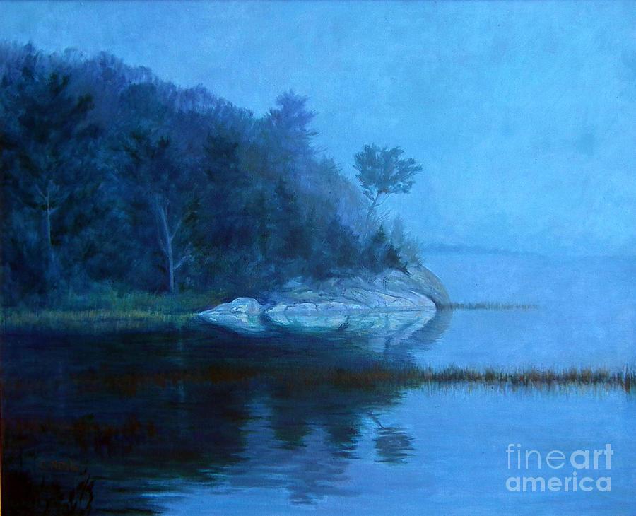 Coastal Scene Painting - Coastal Mist   by Gerard Natale
