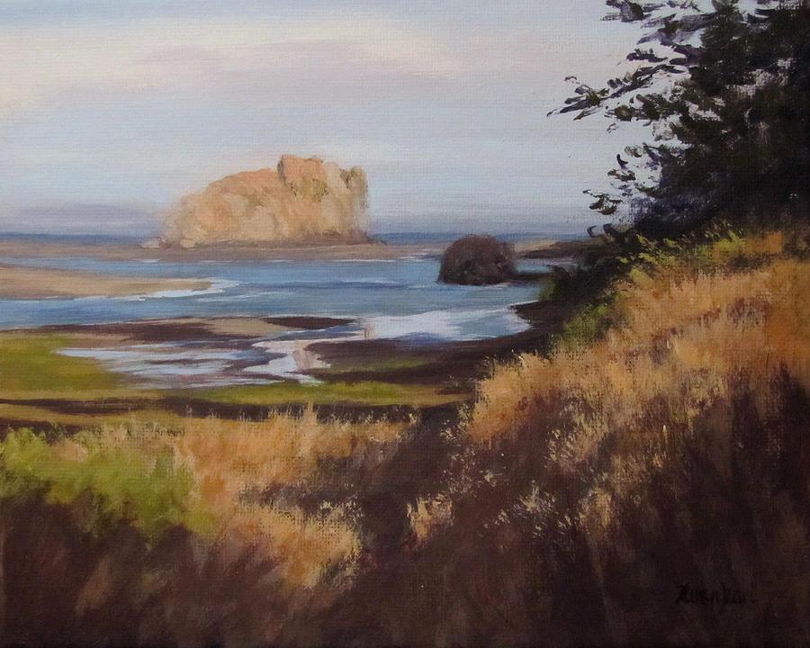 Ocean Painting - Coastal Morning by Karen Ilari
