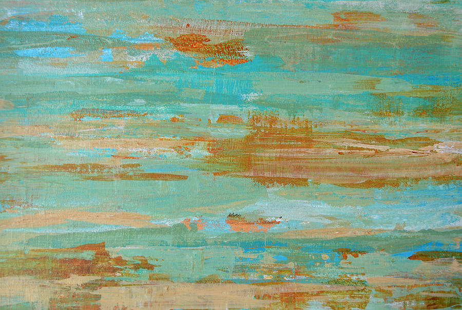 Modern Abstract Painting - Coastal Reflections I by Filomena Booth