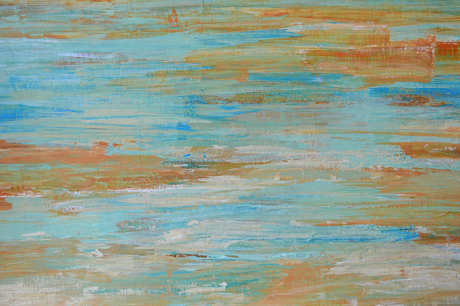 Seascape Painting - Coastal Reflections II by Filomena Booth