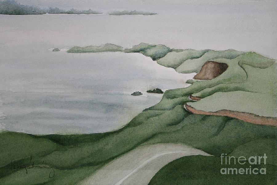 Ca Coast Painting - Coastal Ribbon by Penny Stroening