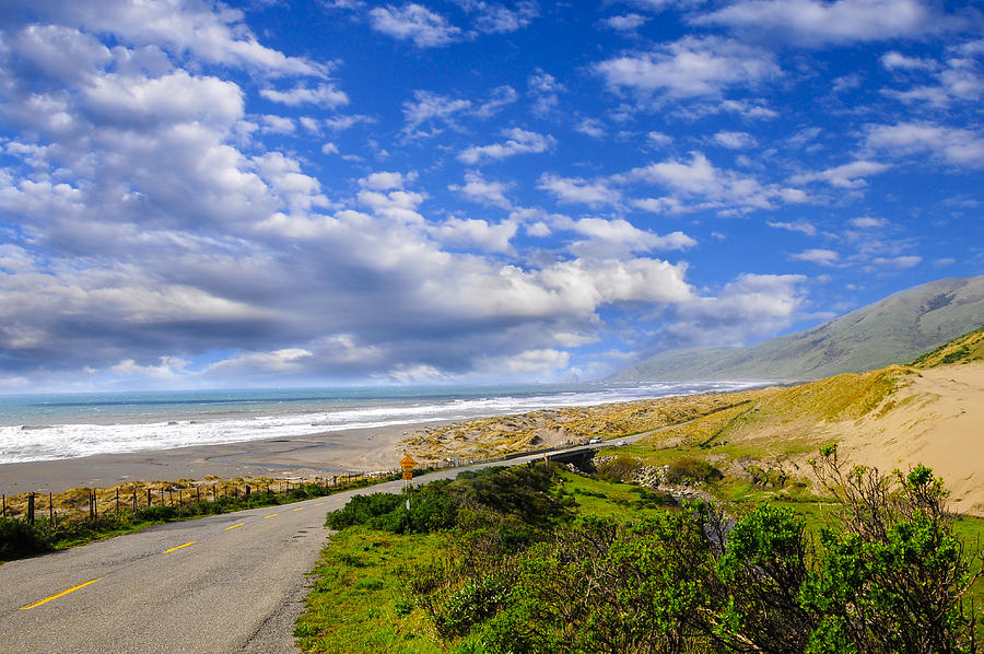 Clouds Photograph - Coastal Road by Don and Bonnie Fink