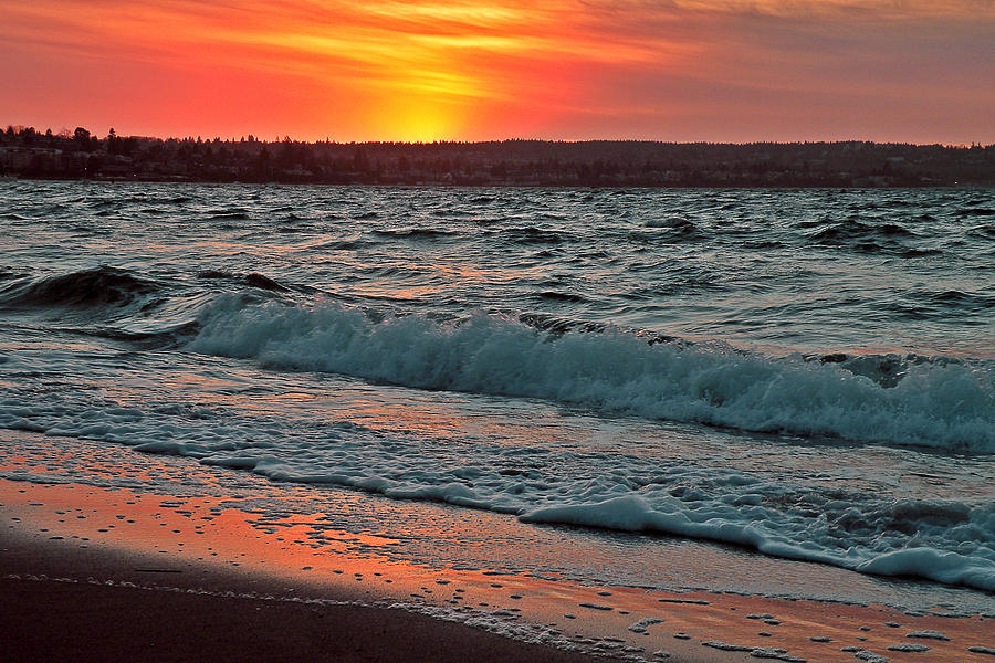 Photographs Photograph - Coastal Sunset by Brian Chase