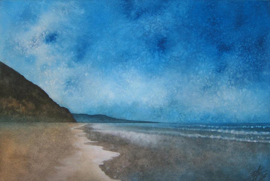 Landscape Painting - Coastal Walk At Torrey Pines by Robin Street-Morris