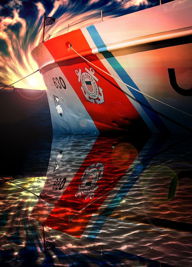 Coast Guard Uscg Alert Wmec-630 Photograph by Aaron Berg