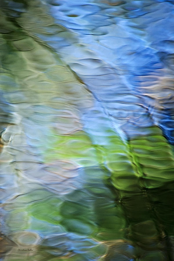 Blue Abstract Photograph - Coastline Mosaic Abstract Art by Christina Rollo