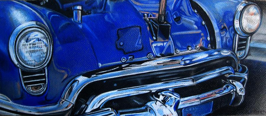 Color Pencil Drawing - Cobalt Blue by Kathleen Bischoff