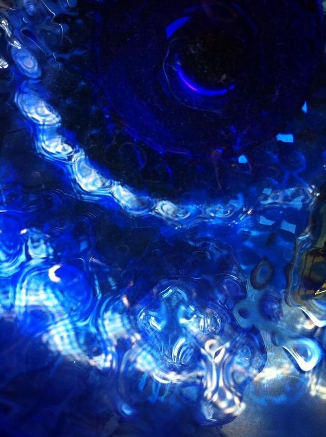 Cobalt Photograph - Cobalt Flow  by Natalya Karavay