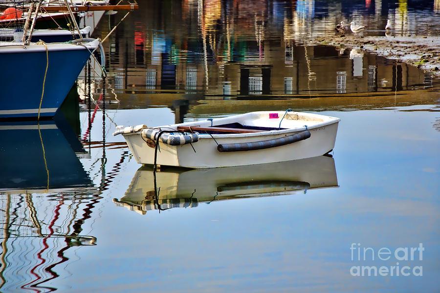 Lyme Regis Photograph - Cobb Reflections by Susie Peek