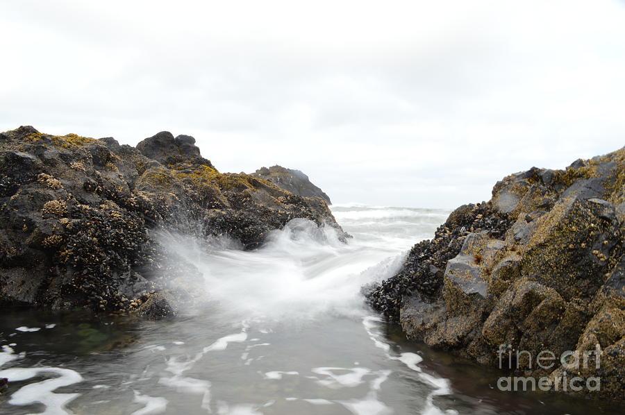 Seascape Photograph - Cobble Beach Waves by Sheldon Blackwell