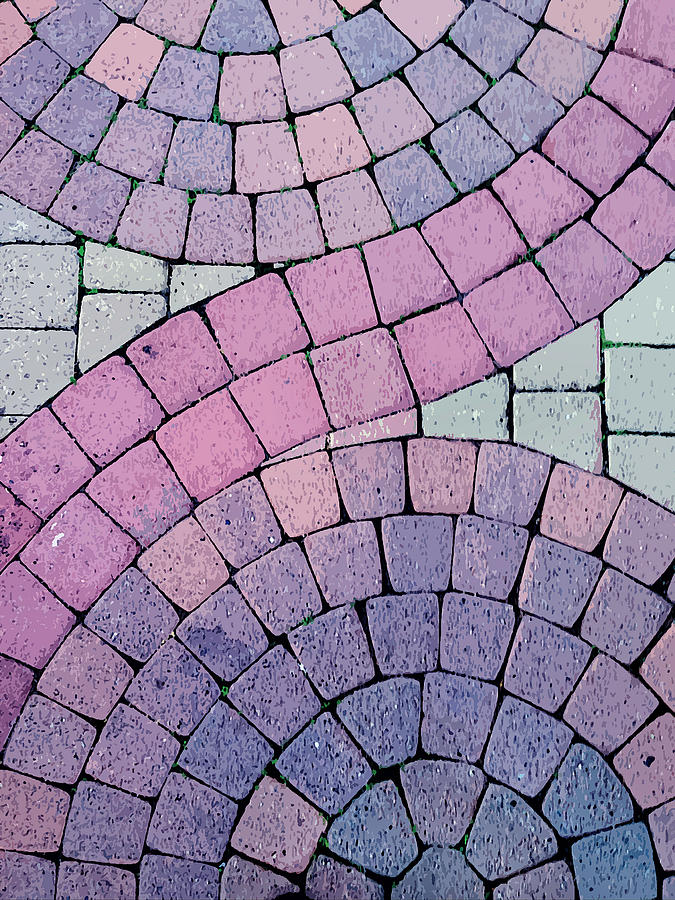 Sidewalk Photograph - Cobblestone Abstract by Art Block Collections