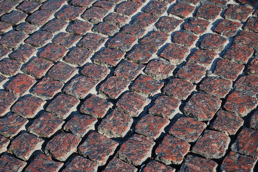 Cobblestone Photograph - Cobblestones by Steven Liveoak