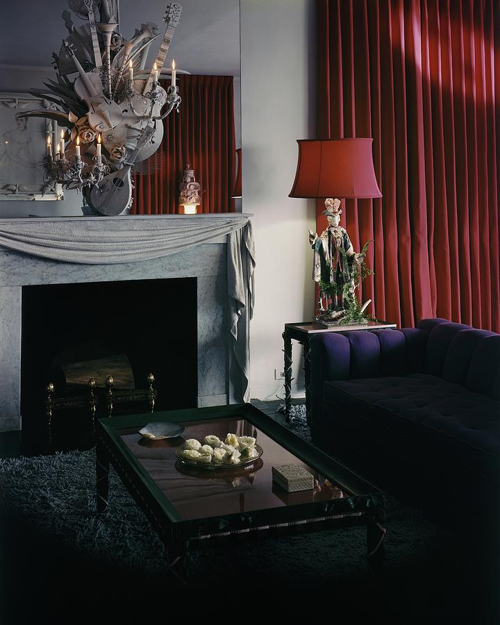 Cobina Wrights Living Room Photograph by George Platt Lynes
