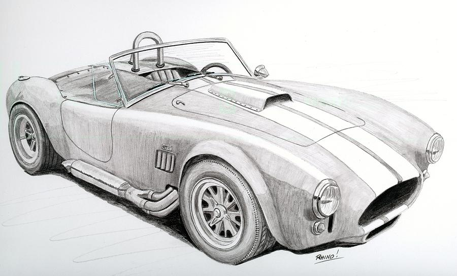 Ac Ford Cobra With 427 Drawing By Rick Bennett