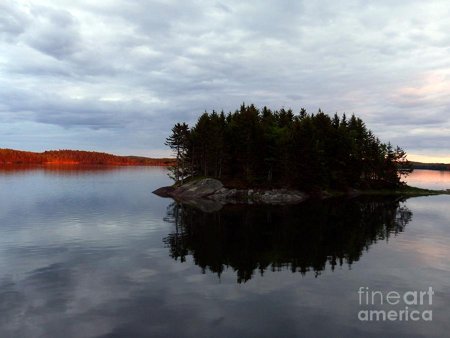 Bay Photograph - Cobscook Bay Sunset Reflection by Christine Stack