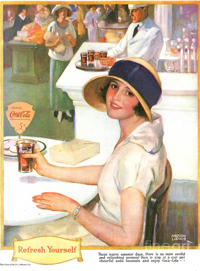 Coca Cola 1920s Usa Drawing By The Advertising Archives