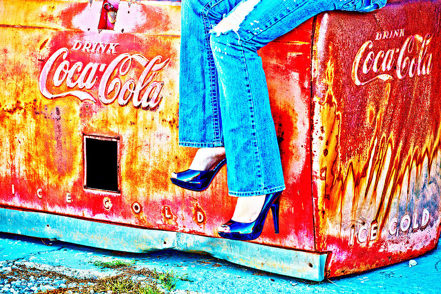 Coca-cola Photograph - Coca-cola And Stiletto Heels by Toni Hopper