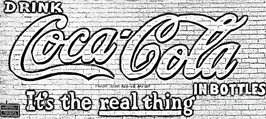 Coca Cola Coke Vintage Americana Red Street Sign On A Brick Wall ...