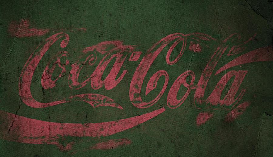 Coca Cola Grunge Pink Green Photograph