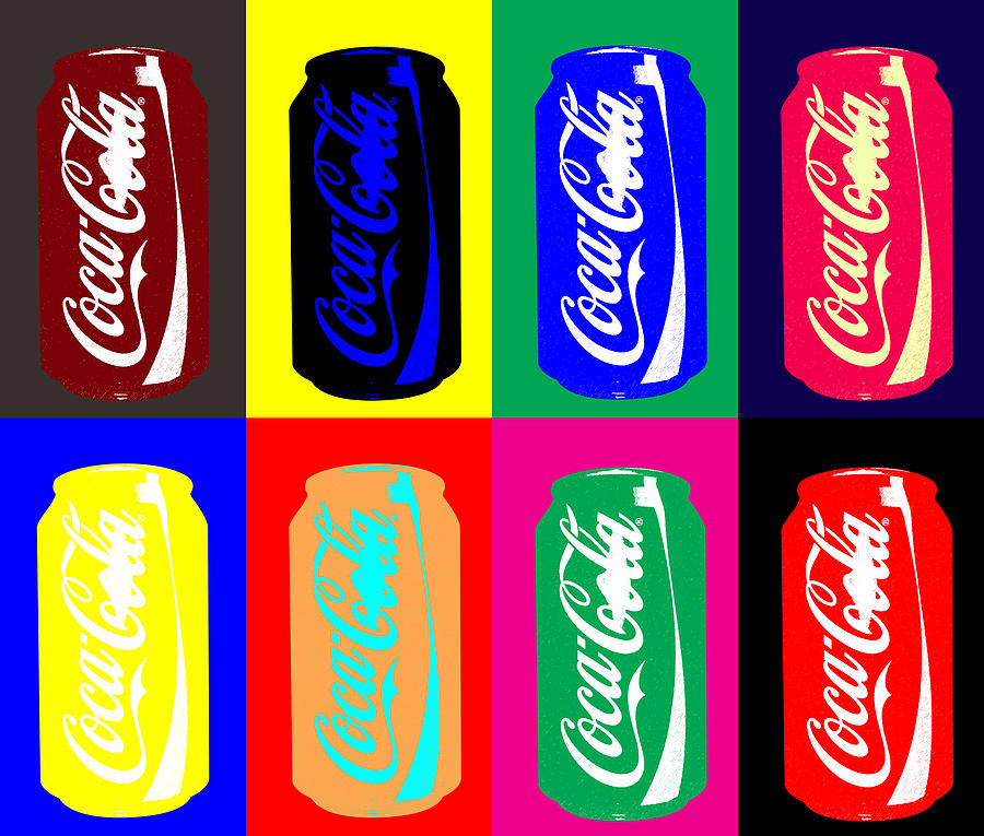 empty coke cans digital art by saad hasnain. Black Bedroom Furniture Sets. Home Design Ideas