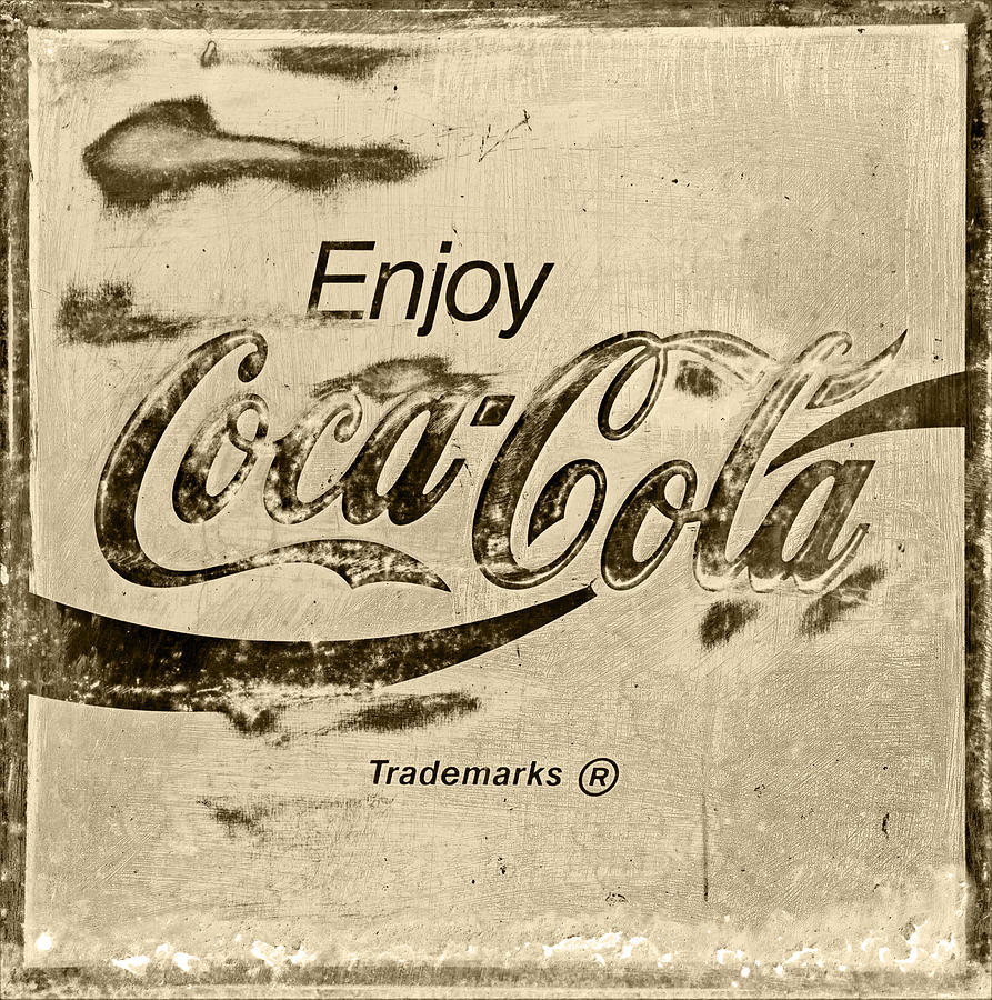 Coca Cola Sign Retro Style Photograph by John Stephens