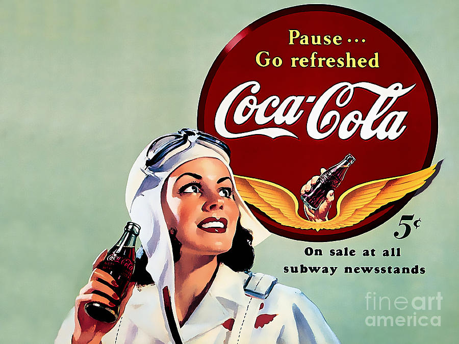 Coca Cola Vintage Ad Poster Mixed Media By Marvin Blaine