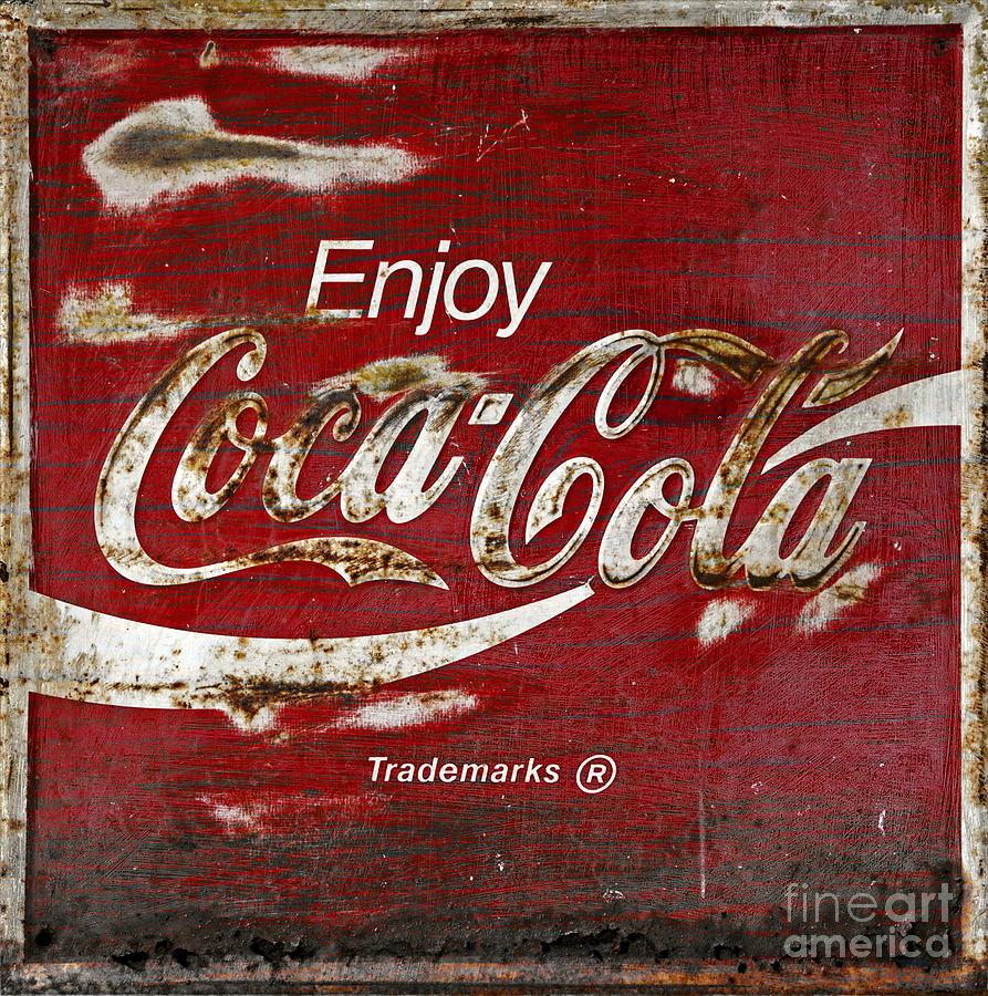 Coca Cola Photograph - Coca Cola Wood Grunge Sign by John Stephens