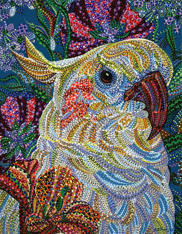 Cockatiel Painting - Cockatiel by Erika Pochybova