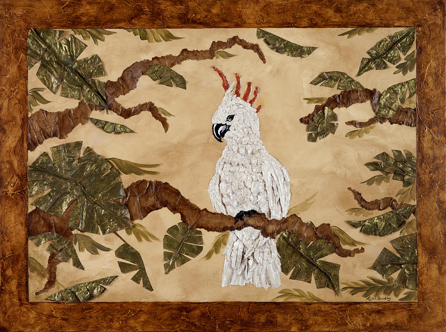 Cockatoo Painting - Cockatoo Out On A Limb by Nickie Bradley
