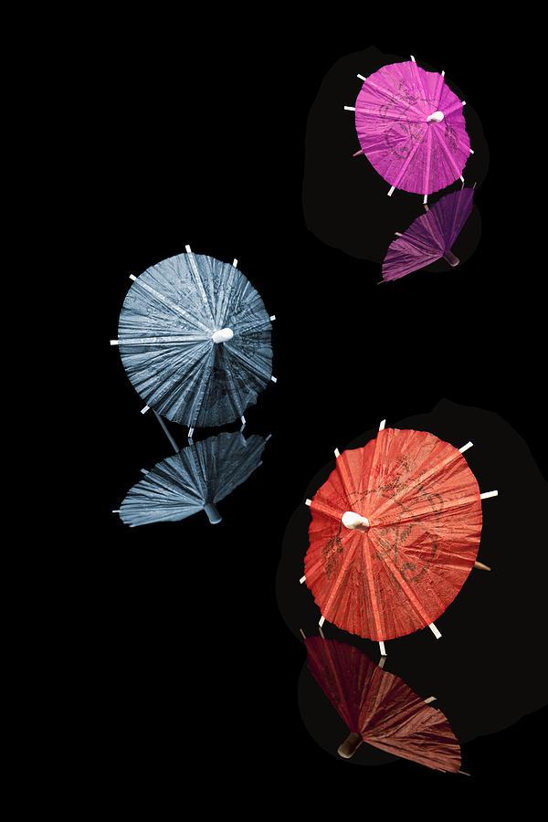 Cocktail Photograph - Cocktail Umbrellas Xi by Tom Mc Nemar