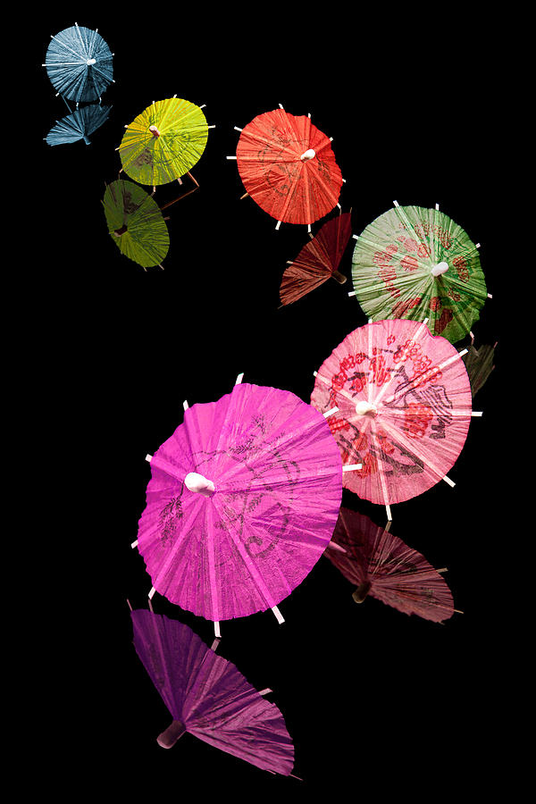 Cocktail Photograph - Cocktail Umbrellas Xii by Tom Mc Nemar