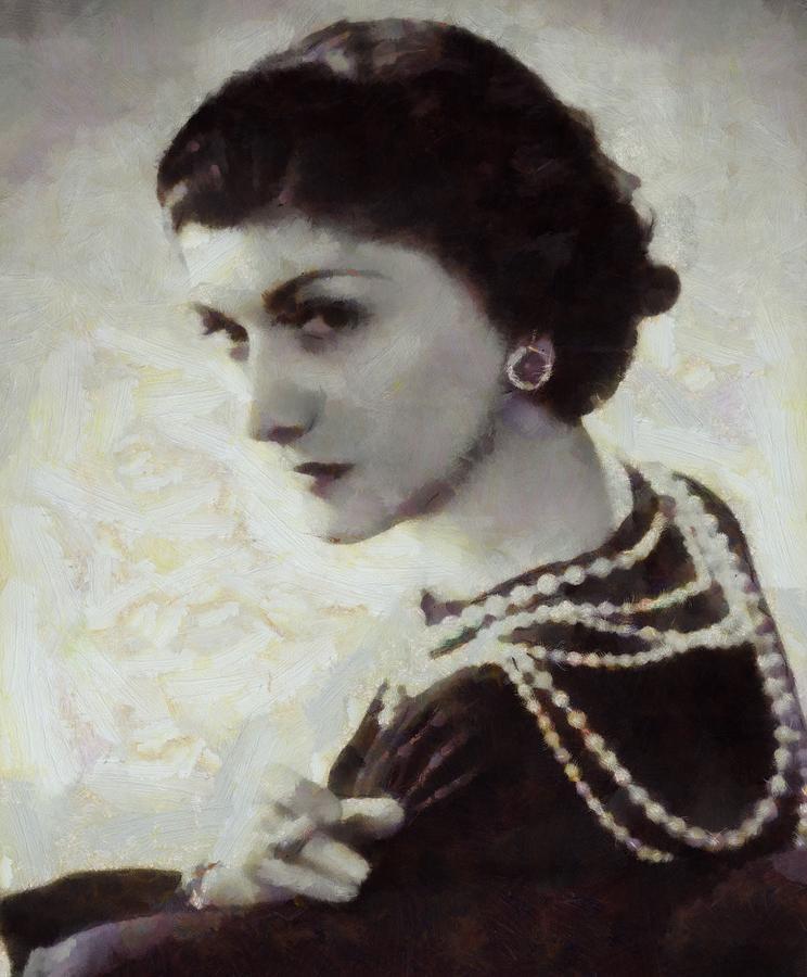 Coco Chanel Digital Art - Coco Chanel by Dan Sproul