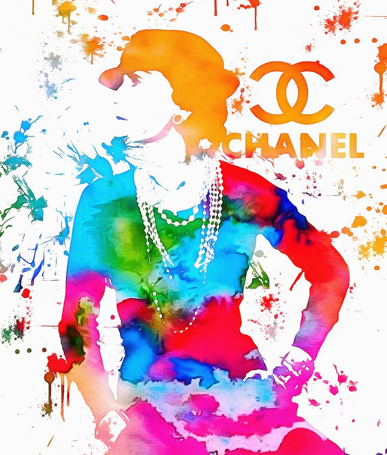 Coco Chanel Paint Splatter Painting