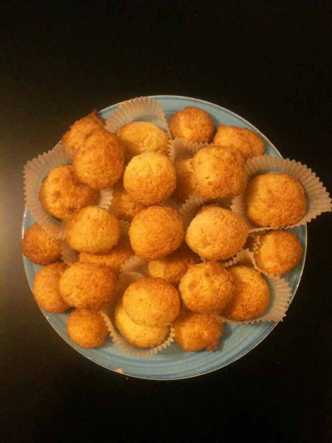 Balls Photograph - Coconut Biscuits by Arual Jay