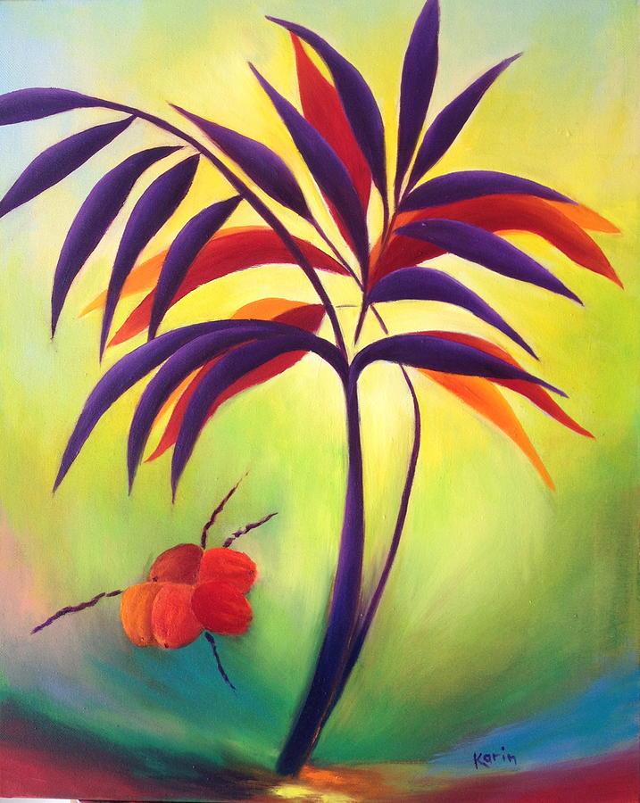 Tree Painting - Coconuts by Karin Eisermann