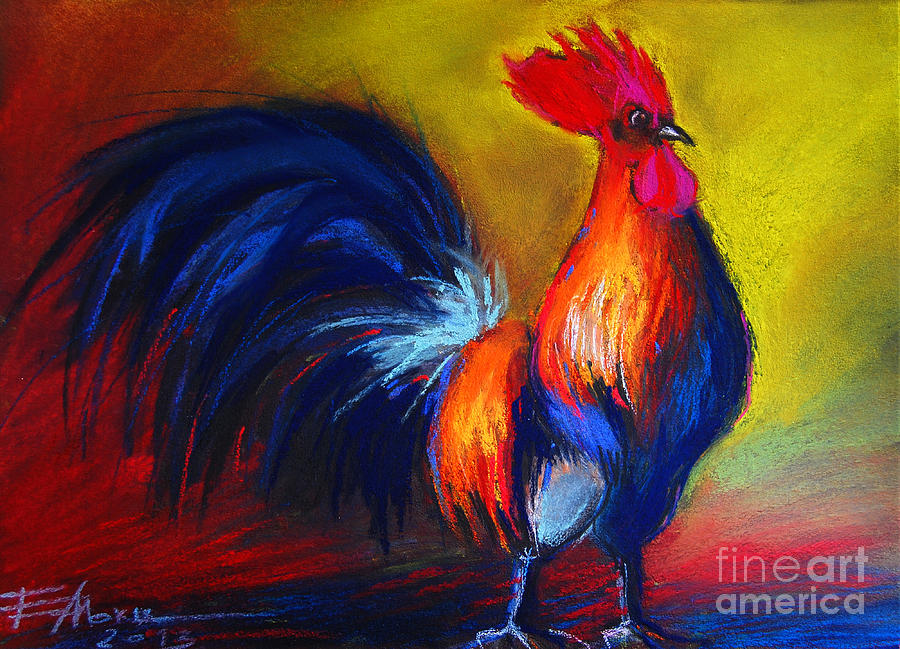 Gallic Rooster Painting - Cocorico Coq Gaulois by Mona Edulesco