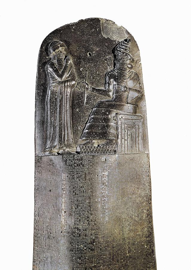 Vertical Photograph - Code Of Hammurabi. Ca. 1750 Bc by Everett